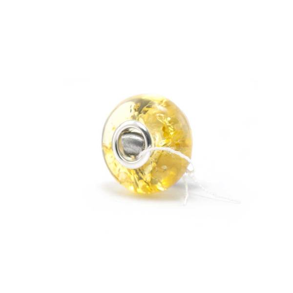 Amber Charm Green Bead Side