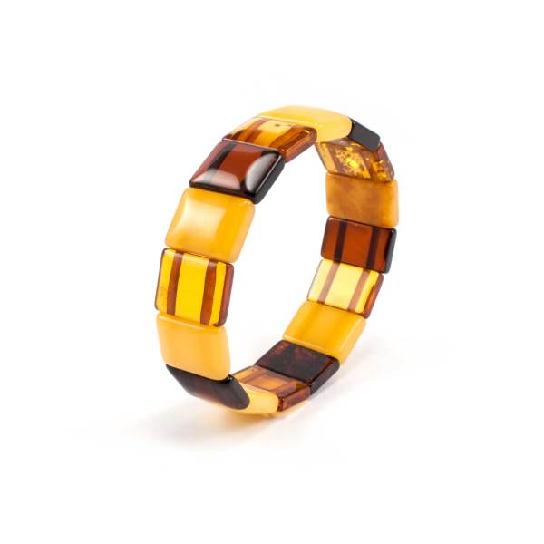 Stylish Amber Bracelet SideView