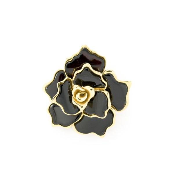 Flower Pendant in Gilded Silver