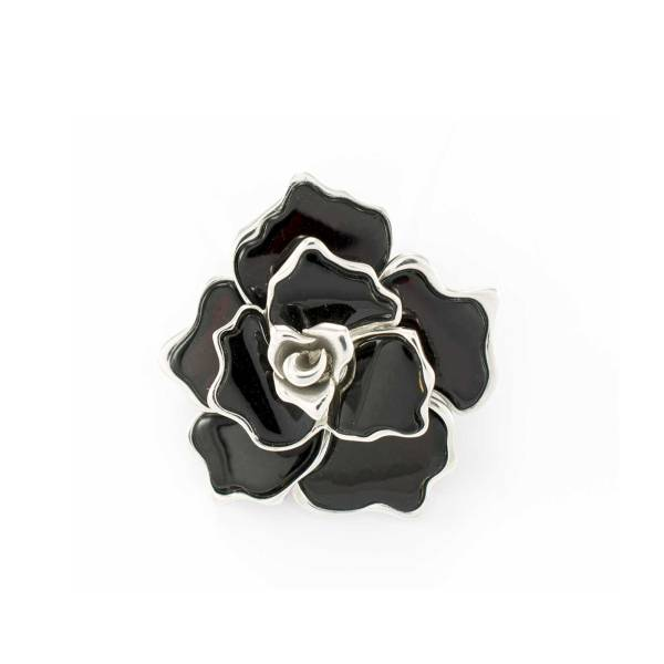 Flower Pendant in Sterling Silver