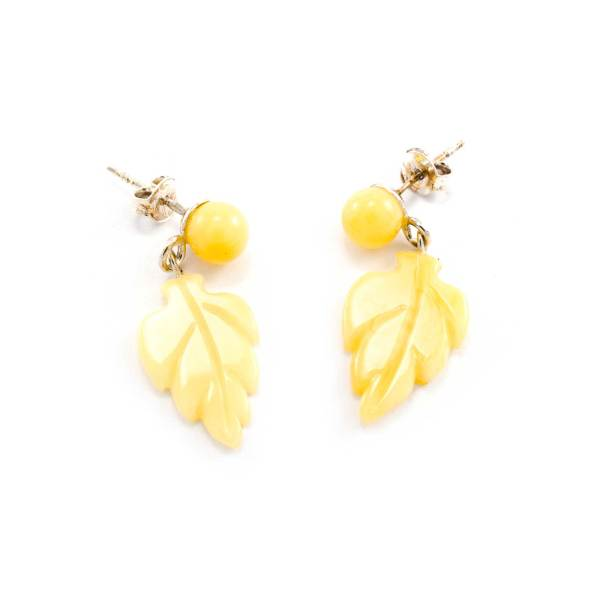 Delicate Yellow Amber Earrings