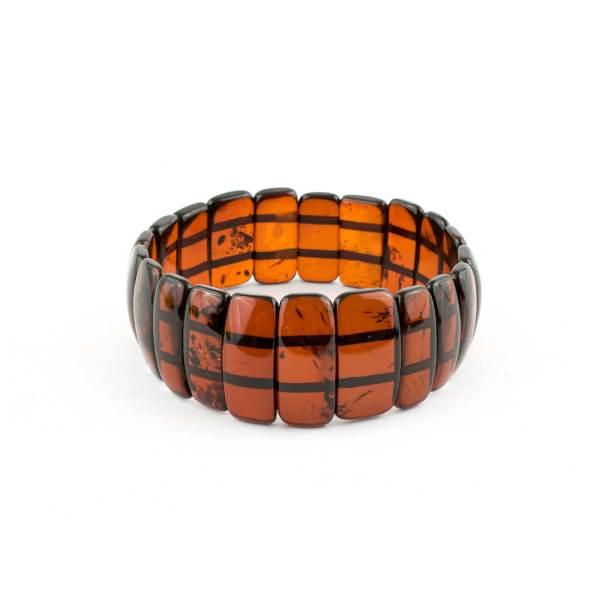 Cherry Flat Elastic Amber Bracelet