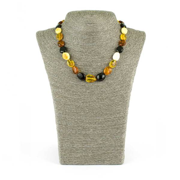 Bean Beads Amber Necklace