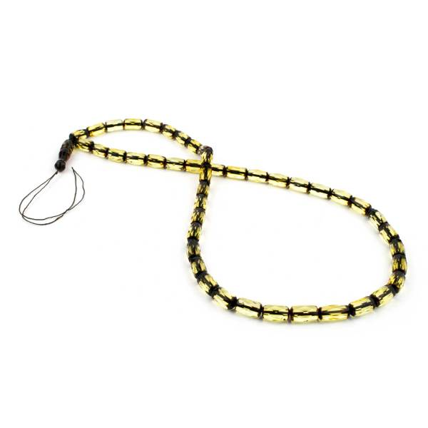 Lemon Barrel Prayer Beads