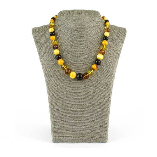Colorful Baroque Beads Amber Necklace