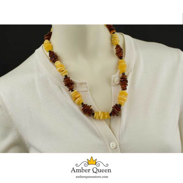 Two Colors Amber Necklace