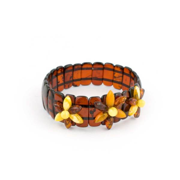 Amber Bracelet on Elastic Band