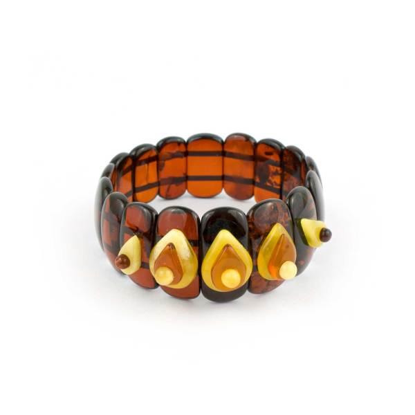 Wide Strech Amber Bracelet