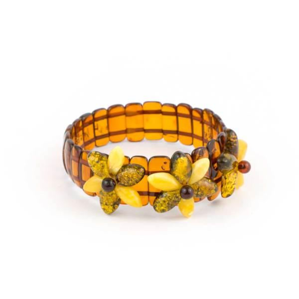 Cognac Strech Amber Bracelet