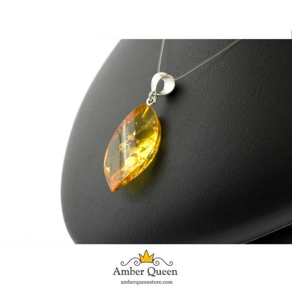 Yellow Pendant with Silver Eyelet