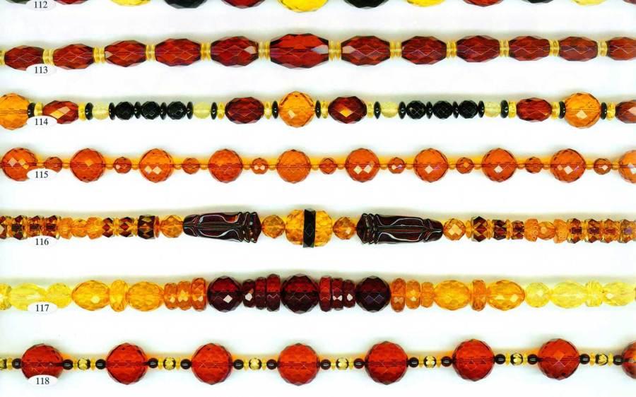 112-118 gintariniai karoliai