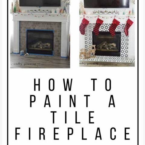 how to paint a tile fireplace amber