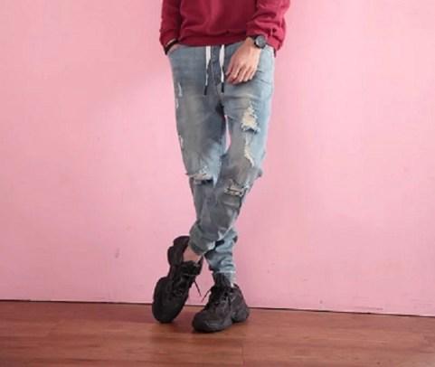 牛仔束口褲4
