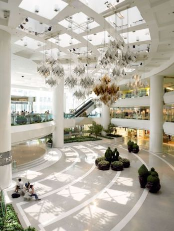 Inside Pacific Place, in Hong Kong