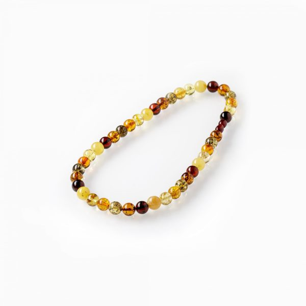 Prabangūs apvalaus gintaro karoliai 10mm, Luxurious round amber necklaces 10mm
