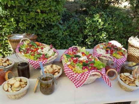 Anchoïade et tapenade paniers provençaux