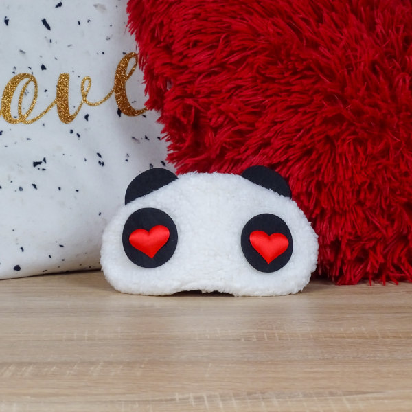 Masque de Sommeil Panda Cœur