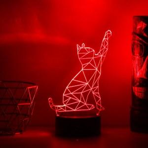Lampe LED Chat 3D