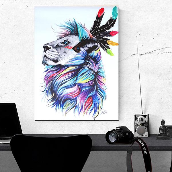 toile lion