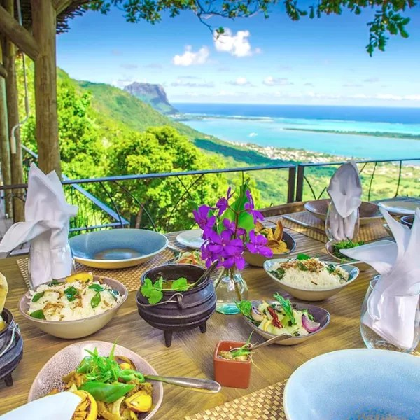restaurant vue île maurice