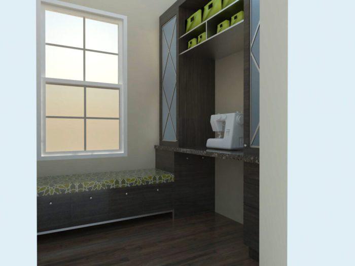 Sewing Room Rendering - Ambience Design Group