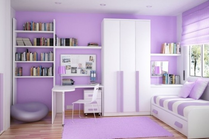 Purple-and-White-Small-Kids-Room-Decoration-with-Smart-Storage-Organized