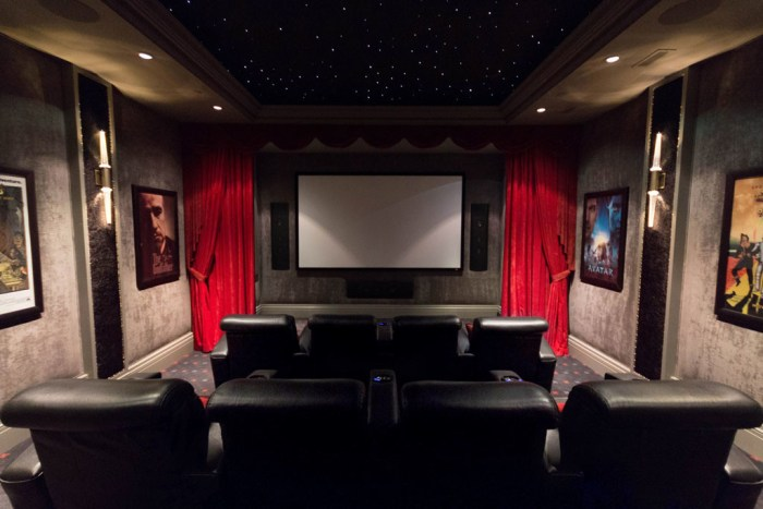 Chateau Inspired Custom Home - Home Theatre