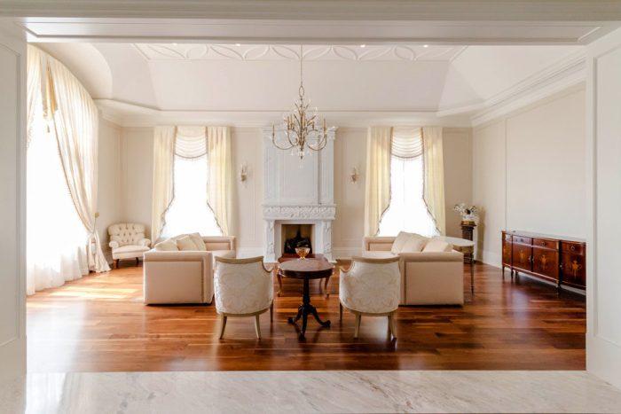 Chateau Inspired Custom Home - Living Room