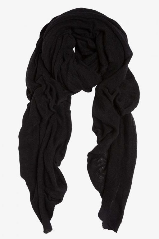 Black Luxury Natura Cashmere - luxury Fantastisk skjerf i 100% cashmere med rå kant. Str.160x160cm Made in Italy