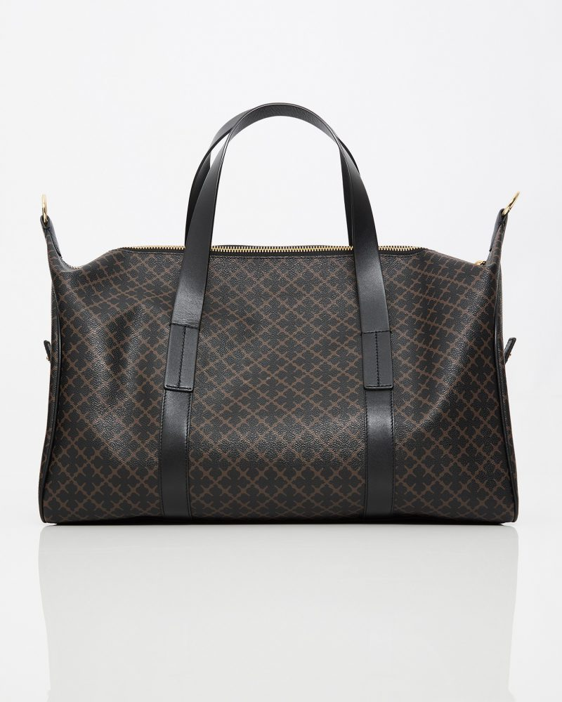 Sort eller brun-mønstret weekend-bag By Malene Birger – posicle 61203145