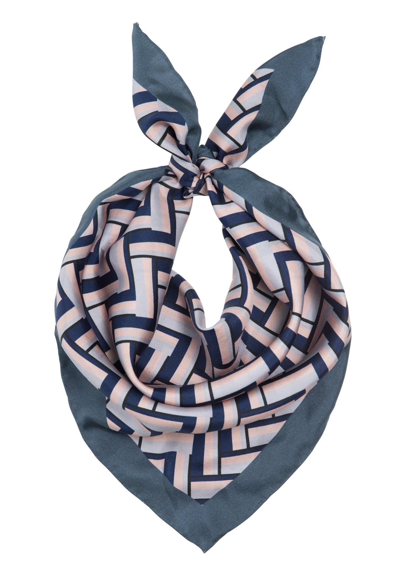 Lite silke trekantskjerf Dea Kudibal - Sharon dessau navy