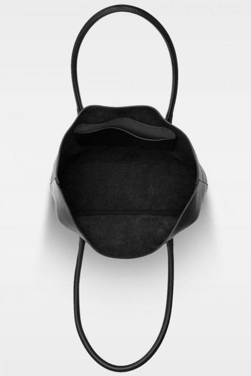 Sort skinn shopper Decadent Copenhagen - 369 elsa tote Bredde/høyde/dybde: 33/36/12 cm