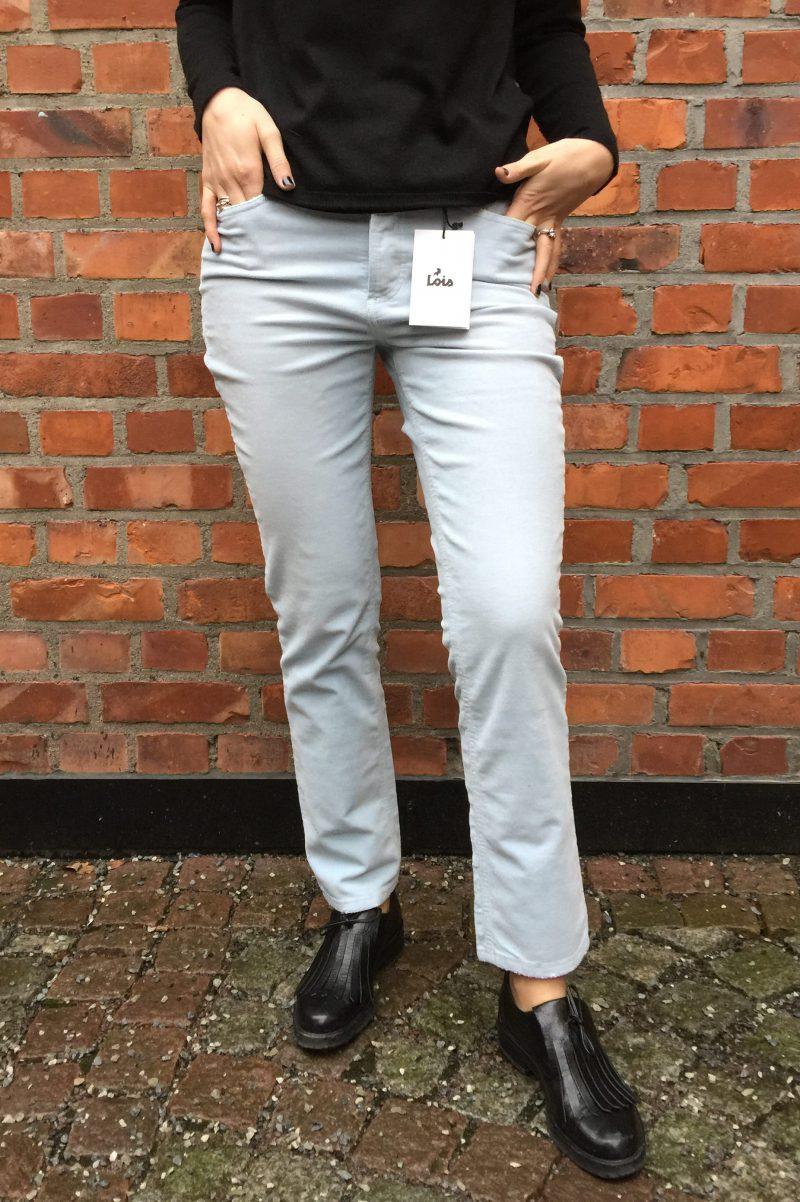Baby blue eller militærgrønn 80talls retro cordbukse Lois jeans - 2091RetroCrop 5235AgedCord
