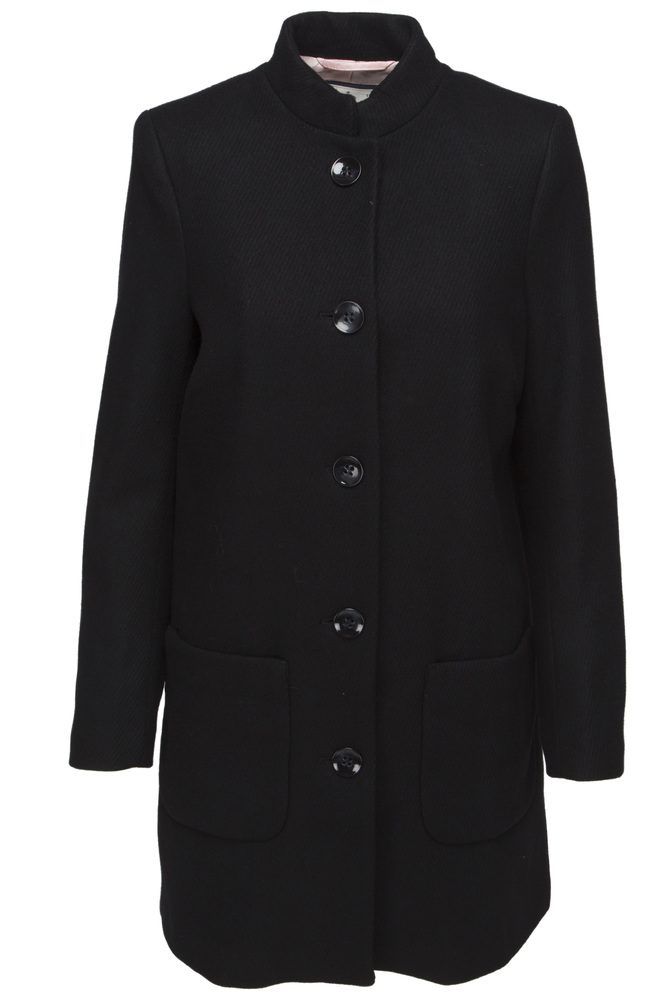 Sort ullkåpe med ytterlommer Newhouse - 702 1189 corinne coat