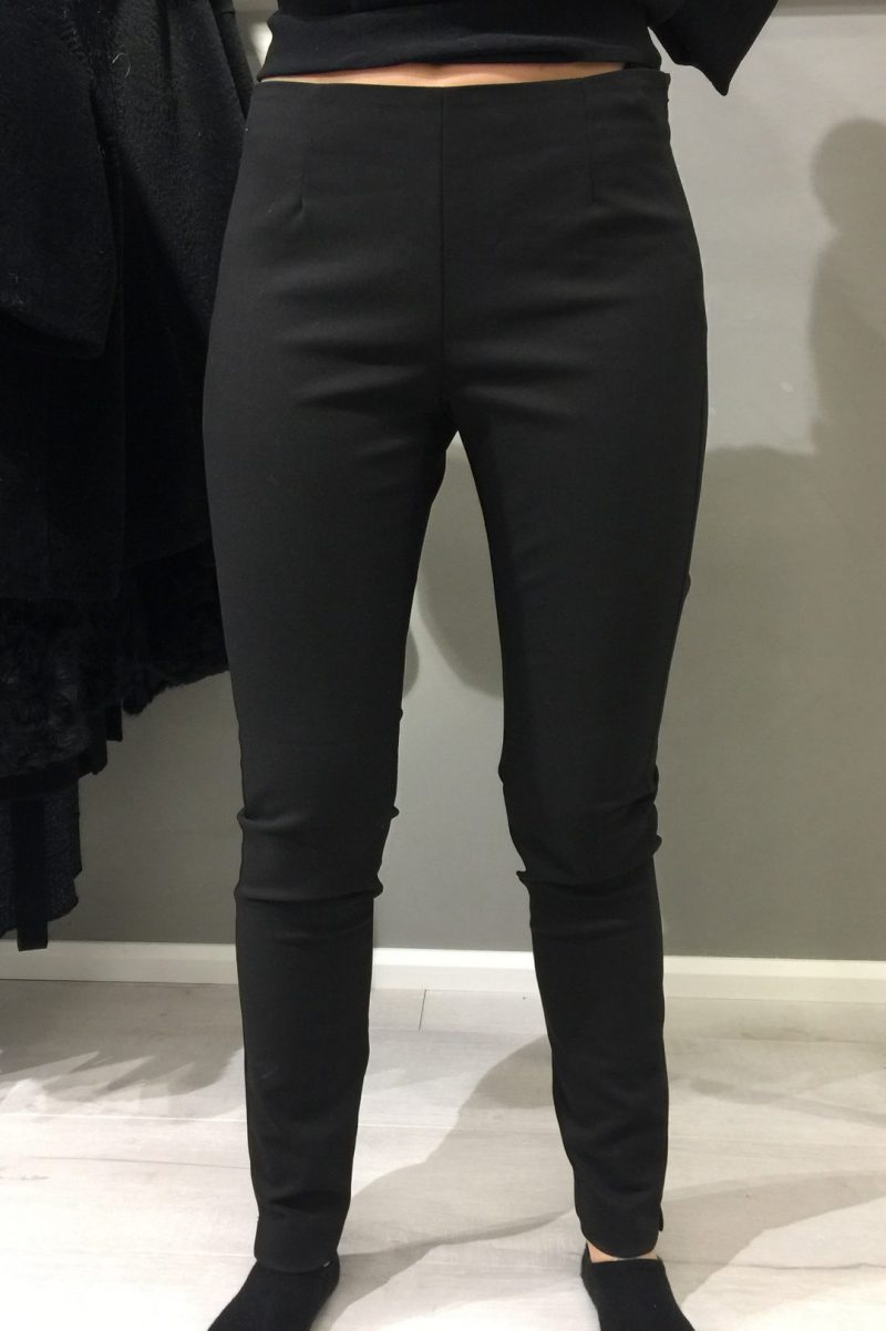 Sort legging bukse med zip i siden Mos Mosh - 118190 cell legging