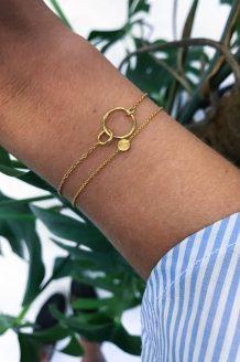 double cirkle coin armbånd enamel