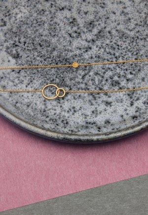 'Double cirkle' armbånd Enamel Copenhagen og 'Coin' armbånd Enamel Copenhagen