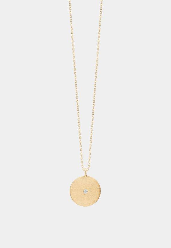 Kjede 'rough diamond coin' med krystall Enamel Copenhagen