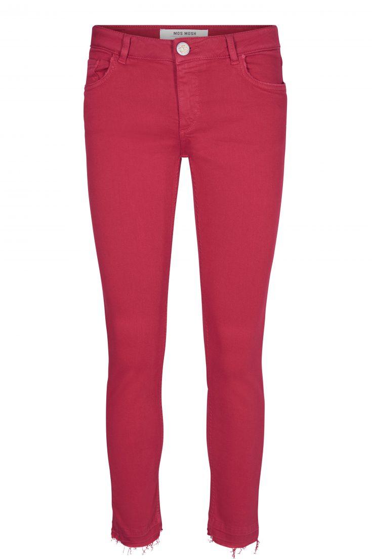 Hvit eller cherry smal bukse Mos Mosh - 121840 sumner color pant