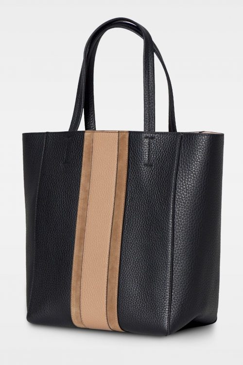 Sort shopper med latte felt Decadent - 153 faye soft tote