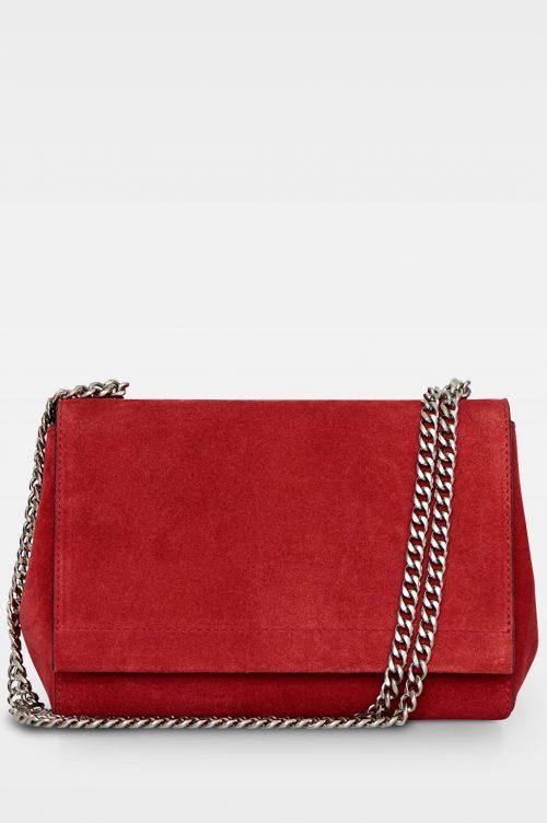 Rød liten semsket veske med lenke Decadent Copenhagen - 547 madelyn small clutch Scarlet Red