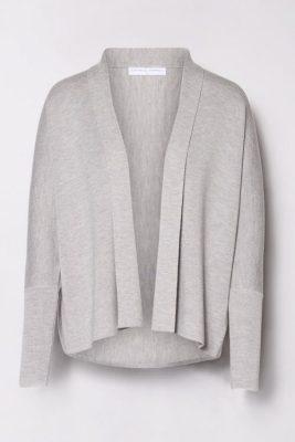 Light grey melange cardigan Cathrine Hammel -117.118 short shawl cardigan