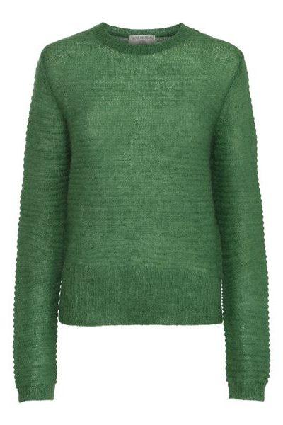 Guccigrønn mohairmix genser med høyt liv Dear Dharma