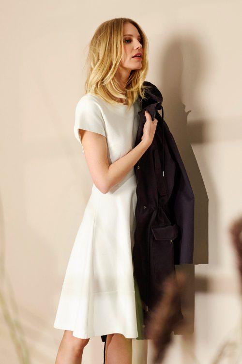 Navy eller korall rillet kjole med kort erm Katrin Uri - 638 chicago dress