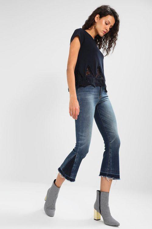 Cropped flare jeans Lois - Cordoba open celine worn L32 / 2185-5452
