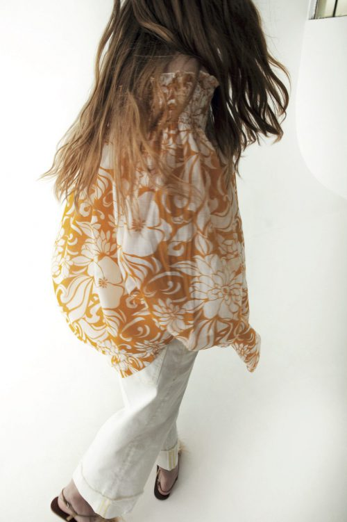 Okergulmønstret kjole Nolita - maddie