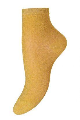 Sterk gul kort glittersokk MP Denmark - 77524/749 ankel pi