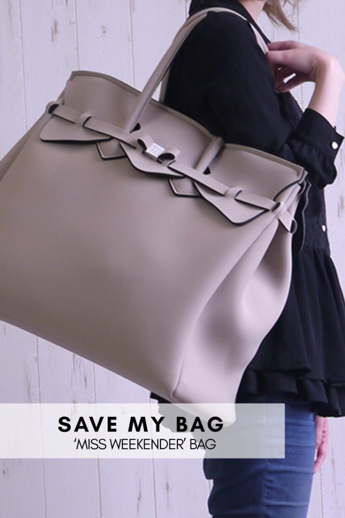 Sort (ikke taupe) stor bag i neopren Save My Bag - Miss weekender