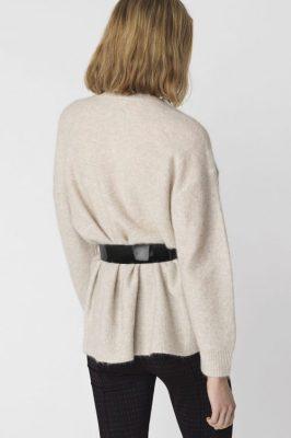 Rød eller beige genser med knapper By Malene Birger - lamma q56560103