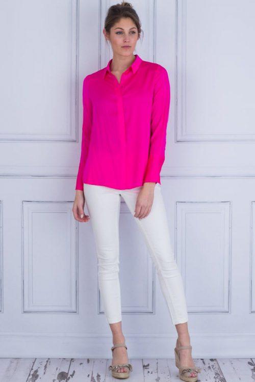 Pink silke creppe skjorte Dea Kudibal - Chelsea 22-118